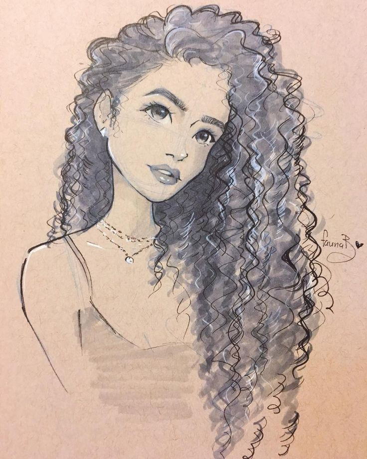 "483 Likes, 18 Comments - LaJanet (@faunab_sketches) on Instagram: ""Warming up with drawing of @madisonpettis Still learning how to draw curly hair #art #artist…"""