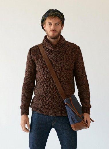 Cat. 13/14 - #732 - Shawl collar sweater | Buy, yarn, buy yarn online, online, wool, knitting, crochet | Buy Online