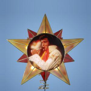 Elvis Star Christmas Tree Topper Item #EP9123 Officially licensed m...