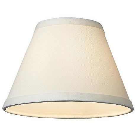 Cream Chandelier Lamp Shade 3.5x7x5 (Clip-On)