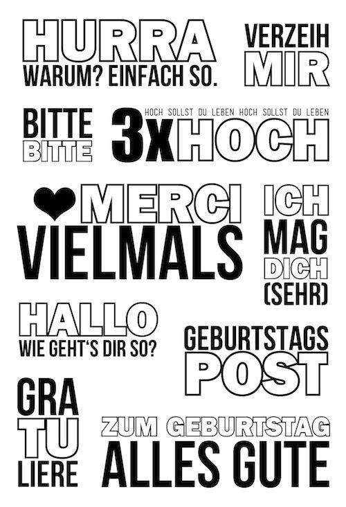 "Klartext Stempelset ""Merci vielmals"" zum Kartenkit März 2016 von www.danipeuss.de #dpmärzkit16 #danipeuss #kartenkit #stempeln #klartext"