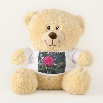#Daikagura Red Camellia Teddy Bear - #flower gifts floral flowers diy