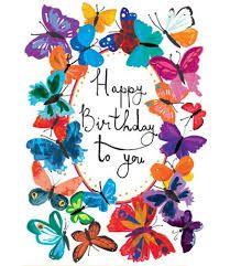 Resultado de imagen para tarjeta de cumpleaños con mariposas