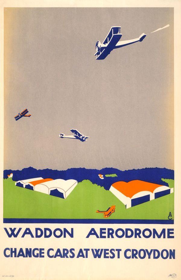 Waddon Aerodrome, Change Cars at West Croydon - Aldo Cosomati, 1921