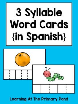 4 letter spanish words syllables practice with 3 syllable words palabras 20109