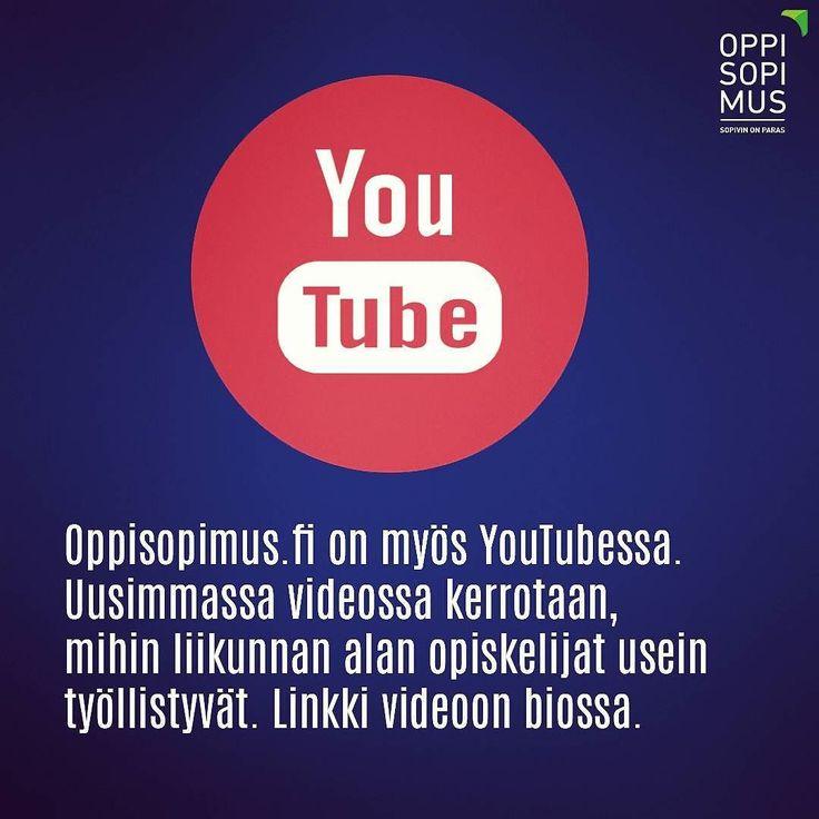 Oppisopimus.fi on myös YouTubessa. #oppisopimus #liikunta