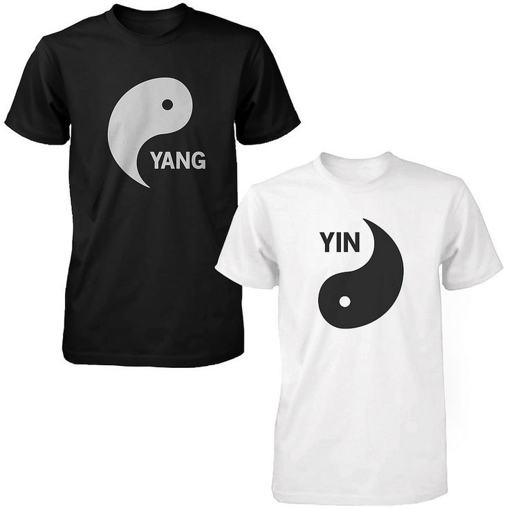 Yin Yang Black and White Shirts Matching Tshirts Cute Asian Couple Tees