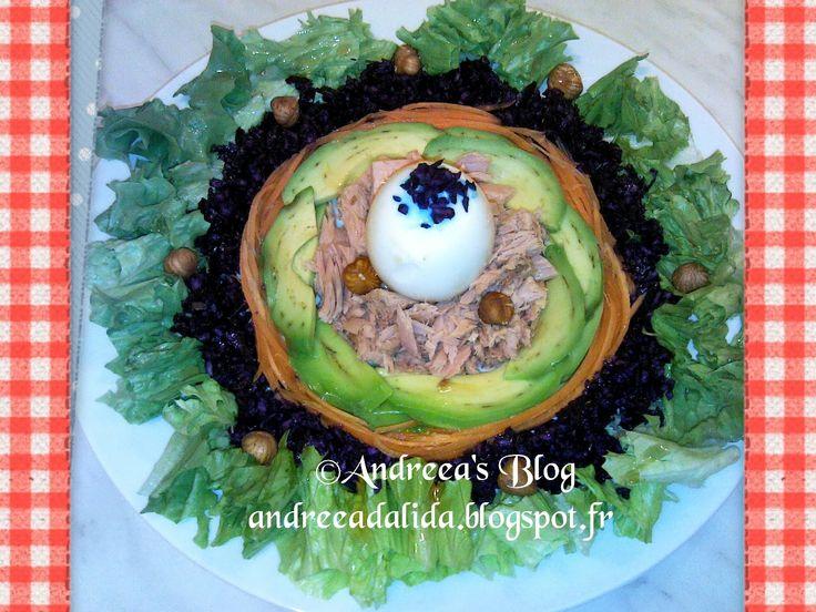 Salata Cuib cu  Ton Keto,LowCarb