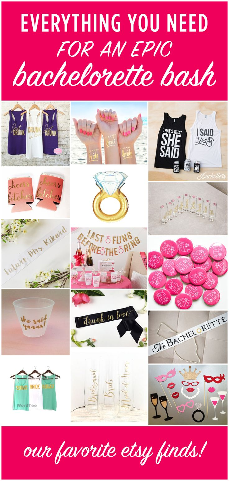 Fabulous finds for your bachelorette bash!!
