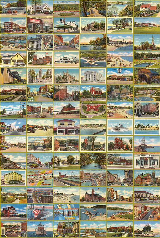 vintage scenic postcards