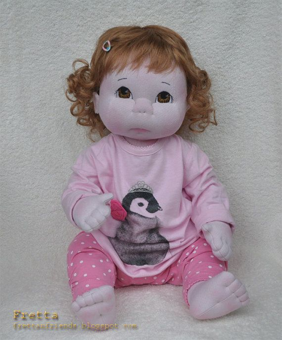 """Life size 48 cm / 19"""" Jointed Baby Doll All by FrettasLovableDolls, $160.00"""