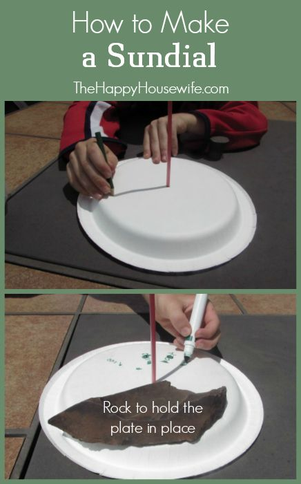 A great summer project for you and your kids is making a sundial of your own. You can make one using just a few household items! | The Happy Housewife
