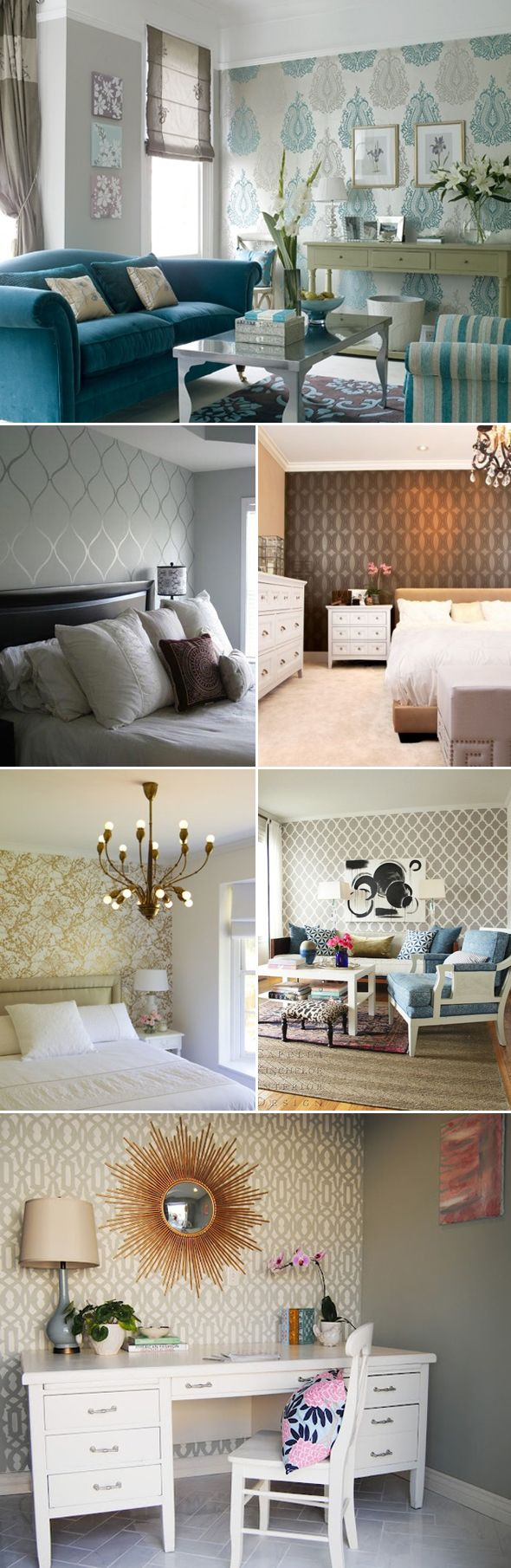 Wallpaper Accent Wall | The Style Umbrella - Inspiration for Stylish Living