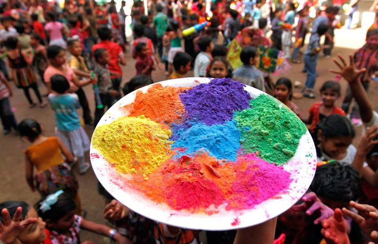 Gloriously colourful photos from Holi 2012 in India.