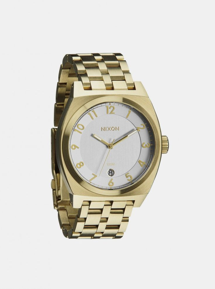 Monopoly Champagne Watch by Nixon. Bling is the perfect words to describe the Monopoly Champagne Watch. Gold colored body and silver colored watch face, the watch is what you'd wear to a fancy party. On a fancy yacht. With fancy people.  http://www.zocko.com/z/JG0jO