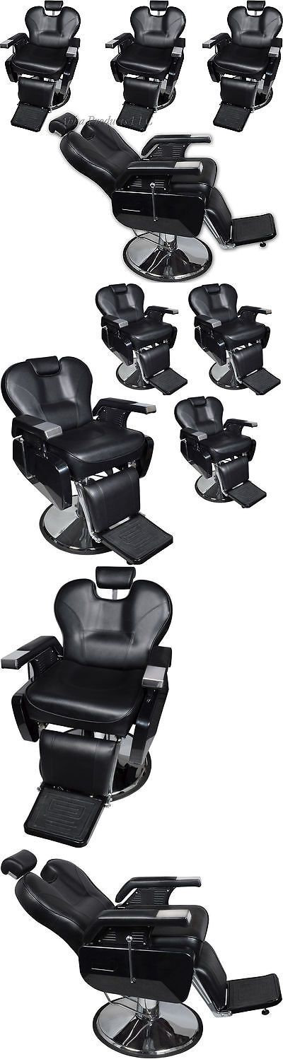 Stylist Stations and Furniture: 4 Hydraulic Barber Shop Reclining Chair Stool Hair Beauty Salon Spa Bed Tattoo -> BUY IT NOW ONLY: $1599 on eBay!