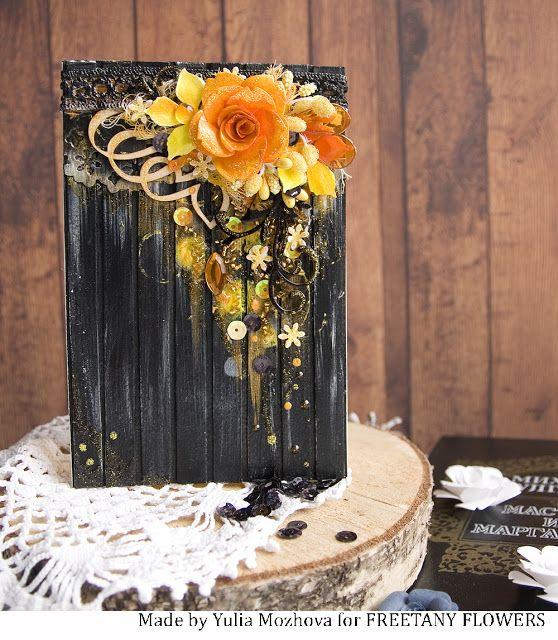 Freetany Flowers: Black & Orange. Вдохновение с Юлей Мозговой