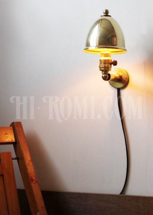 【商品番号:11Y158】工業系ヴィンテージ/クリップ式真鍮シェードミニソケットブラケットランプ/インダストリアルウォールランプ照明/                                      Hi-Romi.com(ハイロミドットコム・神戸)  (TEL)078-203-9620 (Mail)info@hi-romi.com (URL)http://hi-romi.com