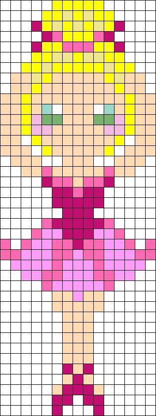 Ballerina Perler Bead Pattern / Bead Sprite
