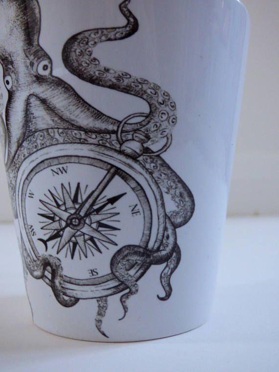 Octopus lost at sea 12oz latte mug