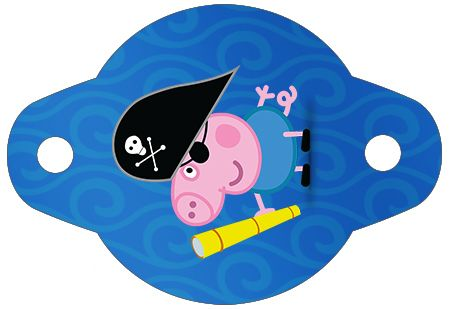 Enfeite Canudinho George Pig Pirata: