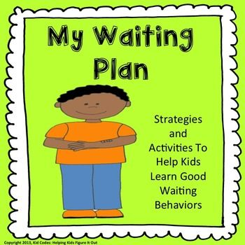 Social Skills My Waiting Plan A Strategy And Activity