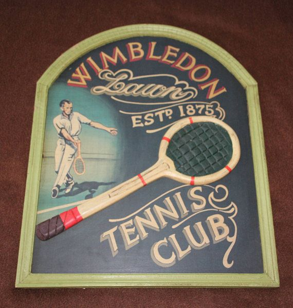 Tennis sign, Tennis signboard, Tennis gift, Tennis decor, Wimbledon Tennis club, Wimbledon Lawn Tennis, Tennis wall decor Pub Bar decor sign