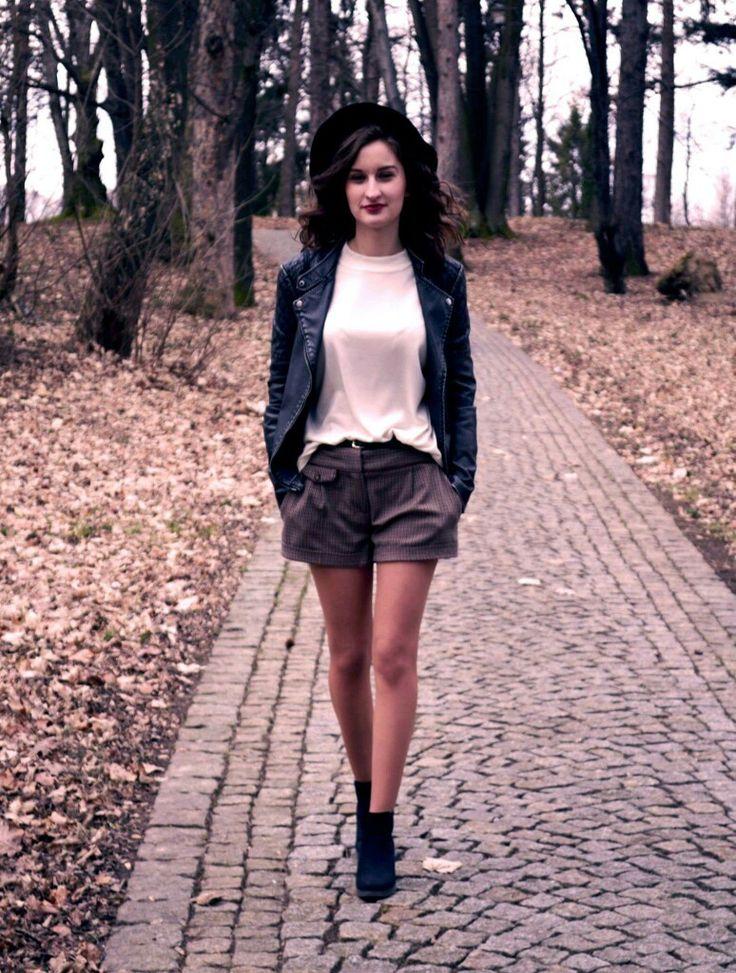 Shorts, ootd, oufit, hat, vintage look