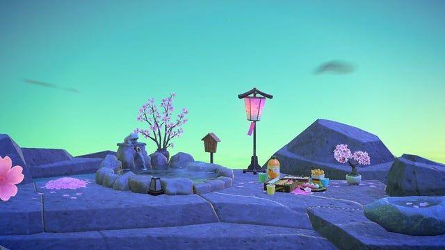 Cherry Blossoms 5am Sky Arizona Iced Tea Animalcrossing New Animal Crossing Animal Crossing Game Animal Crossing
