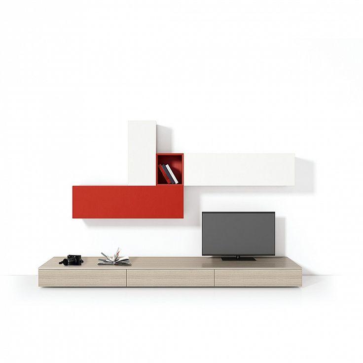 modern tv wall unit line ii