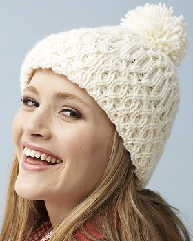 A beautiful climbing cable pattern looks perfect in Bernat Super Value. free pattern