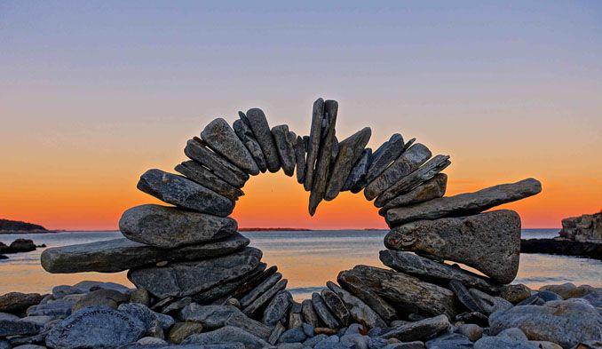 Einzigartige Stein Kunst, ein Herz für die Natur