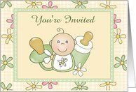 Colored Daisy Baby Shower Invite Card by Greeting Card Universe. $3.00. 5 x 7 inch premium quality folded paper greeting card. Greeting Card Universe offers the largest selection of Baby Shower invitations on the web. Baby Shower invitations are always more memorable when they are sent the old-fashioned way. Send a Baby Shower invitation from Greeting Card Universe this year. This paper card includes the following themes: daisy, daisies, and flowers. Greeting Car...