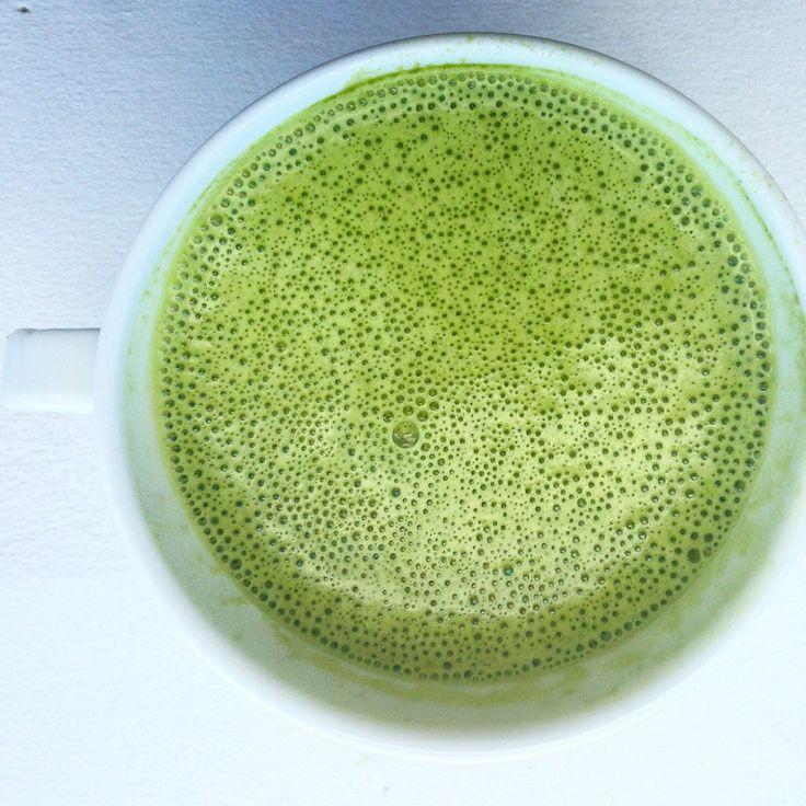 Coconut matcha latte #matcha #tea #health