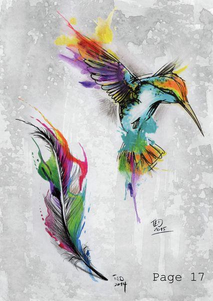 die 25 besten kolibri tattoo aquarell ideen auf pinterest. Black Bedroom Furniture Sets. Home Design Ideas