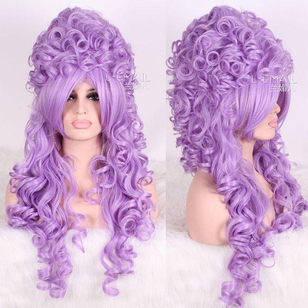 Aliexpress.com: Koop Marie Antoinette 32 inch lange paarse golvend krullend perucas anime cosplay synthetische pruiken vrouwen mode haar zy34d van betrouwbare paarse pruik leveranciers op Yiwu Ziping Co., Ltd.