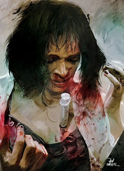 Mia wallace 'Adrenaline' Pulp Fiction Art Print | The ...
