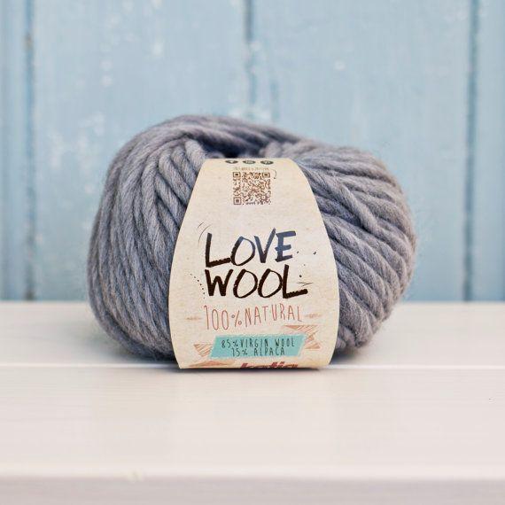 Love wool Yarn Wool & Alpaca Dark Grey by Soulmadehome on Etsy