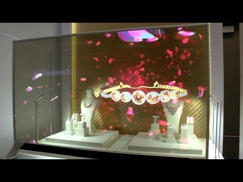 See-through OLED TV a window to tomorrow