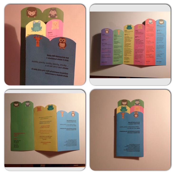 Leaflet for Kindergarten