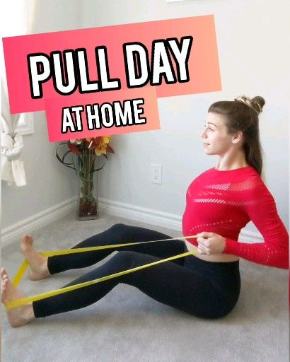 At Home Mini-Band Back & Bicep Workout for Women.