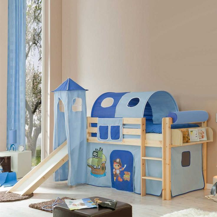 Spectacular Spielbett in Kieferfarben Blau Jetzt bestellen unter https moebel ladendirekt de kinderzimmer betten hochbetten uid udafe d bb