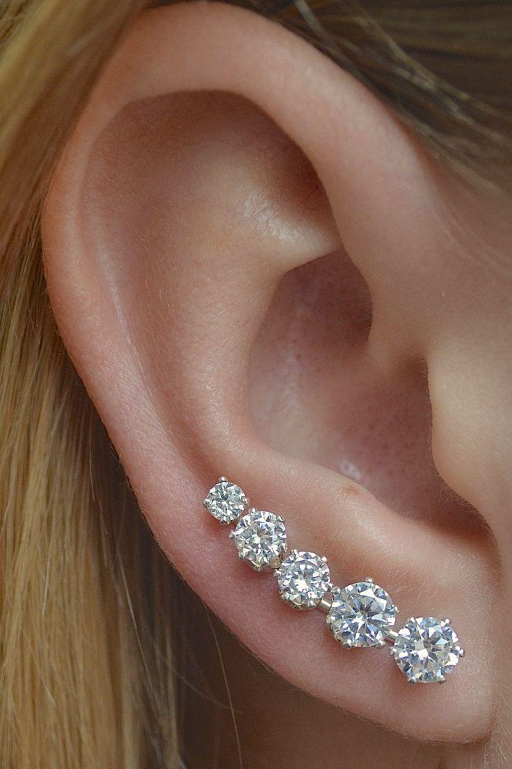 Ear Pin  Ooh La La MINI Sterling Silver/Gold by ChapmanJewelry, $48.00