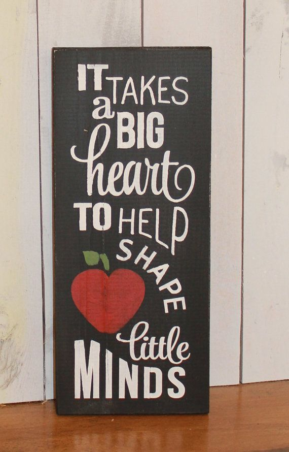 It Takes a big Heart to Help Shape Little Minds/Teacher Sign/School sign/Cute sign/Classroom Sign/Chalkboard Style/Black White/Teacher Gift