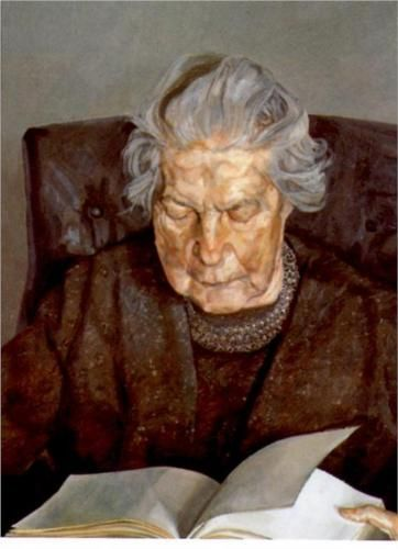 The Painter's Mother Reading, 1975 Lucian Freud