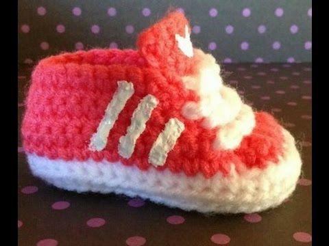 getlinkyoutube.com-how to crochet adidas inspired booties