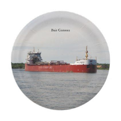 Baie Comeau paper plate - decor diy cyo customize home