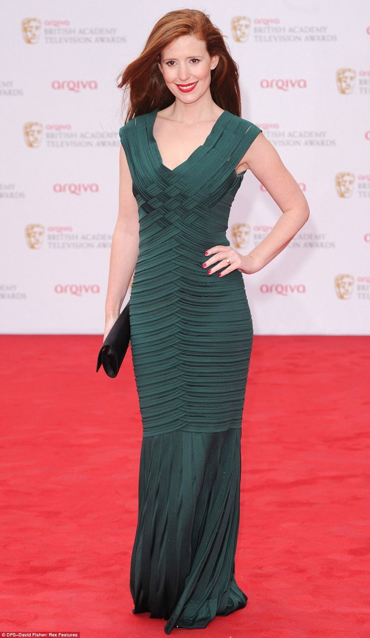 May 2013.   Enviable figure: Actress Amy Nuttal showed off her impressive body in a tight green outfit