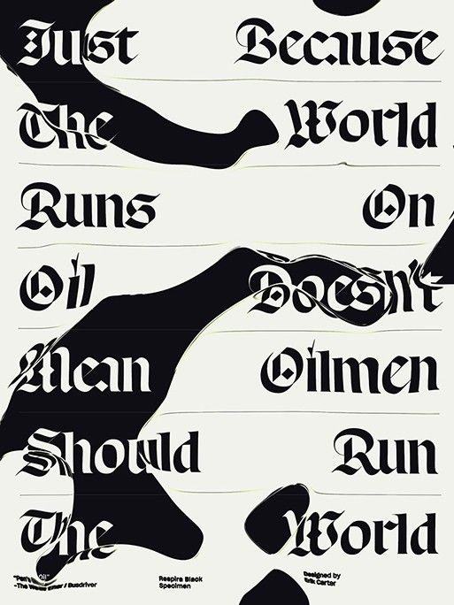 Respira, Blackletter Typeface, Sharp Type, Earth Day, Lucas Sharp, typeface, National Resources Defense Council, illustrations, Eric Carter, Justin Sloane