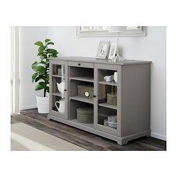 IKEA - LIATORP, Aparador, gris, , Con salida para cables en la trasera: recoge…
